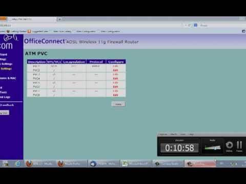 خطوات تشغيل خدمة نور ADSL علي راوتر 3Com