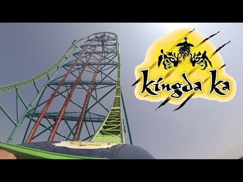 Kingda Ka Worlds Tallest Roller Coaster Front Row 60FPS HD POV
