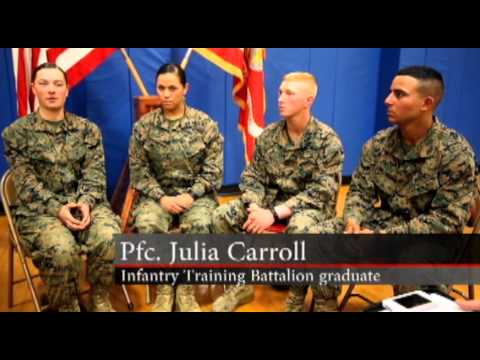 MilitaryTrainingCamps.com - First Three Female Marines Graduate Infantry Training Course Image 1