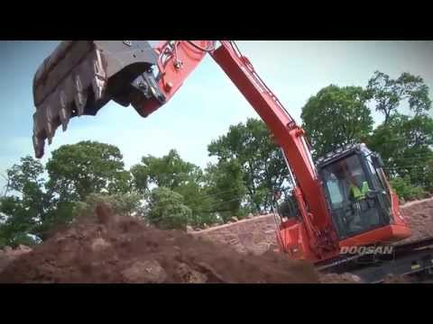Doosan Excavator DX140LCR-3 at work