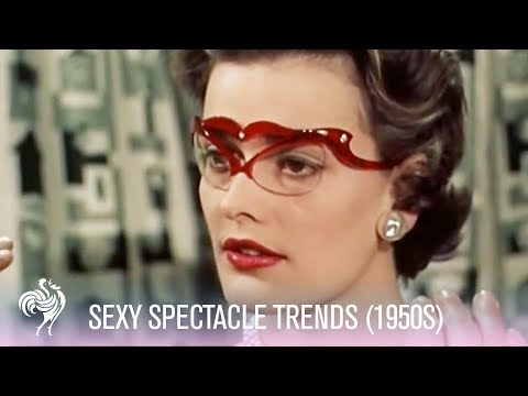 1950s Glasses Fashions Sexy Spectacle Trends 1950s