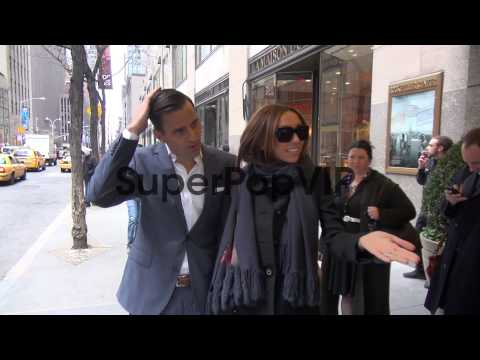 Giuliana Rancic and Bill Rancic at the NBC Studios Giulia...