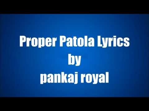 Proper Patola Diljit Dosanjh feat  Badshah Full song lyrics