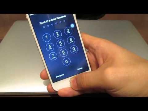 Как разблокировать экран на iphone 5s