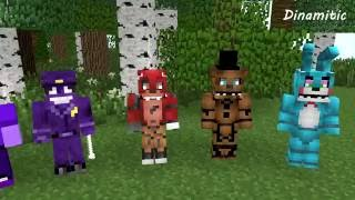 FNAF Monster School: Girls vs Boys Give Gifts. Minecraft Animation (Five Nights At Freddy