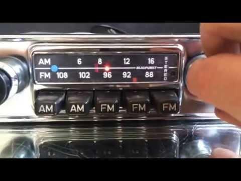 Chromelondon BLAUPUNKT FRANKFURT US STEREO VINTAGE CHROME FM RADIO WITH MP3 CONNECTIVITY