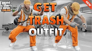 Trash Man Glitch Outfit Tutorial! GTA 5 Online Modded Orange Tryhard Clothing! (GTA 5 Glitches)