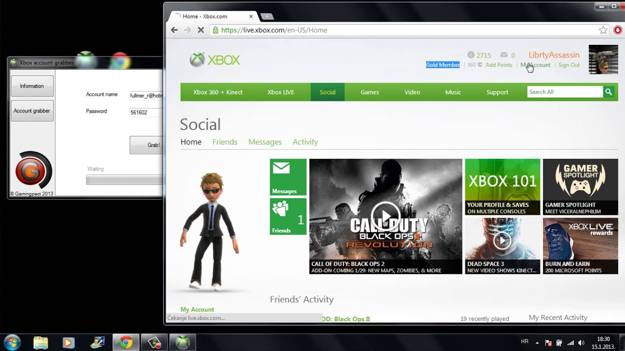 how to make an account in xbox live