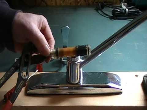 How to repair a leaky kitchen faucet.... cartridge.-single lever