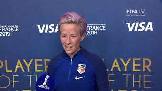 Megan Rapinoe – Player of the Match – Spain v USA