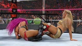 Charlotte Defeats Sasha Banks - WWE Hell in a Cell 2016