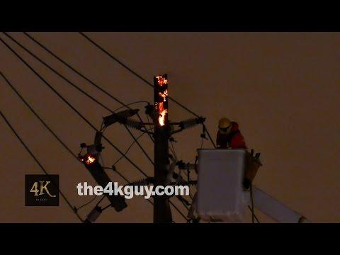 Toronto emergency crews battling powerpole fires in North York 3/3/2015