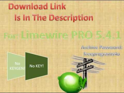 #4 Limewire Professional 5.4.1 PORTABLE Free! Must See!