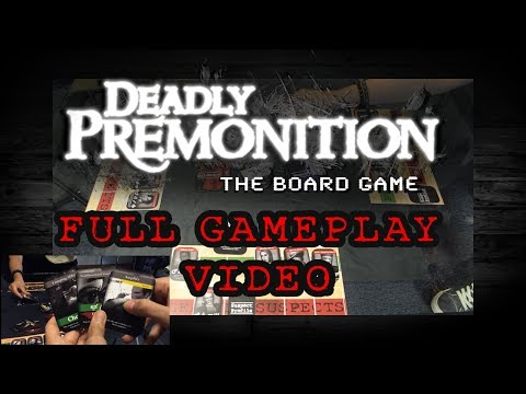 Full Gameplay Demonstration - Deadly Premonition The Board Game