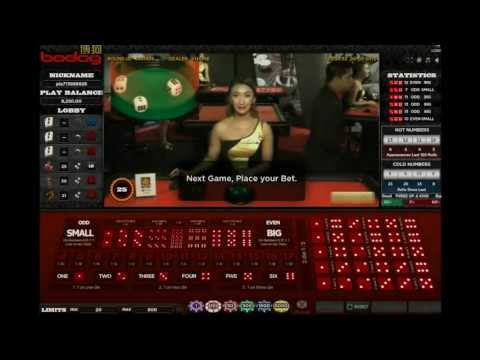 Live Dealer Sic Bo at Bodog Grand Casino