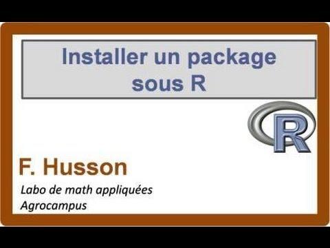 comment installer un package sous r