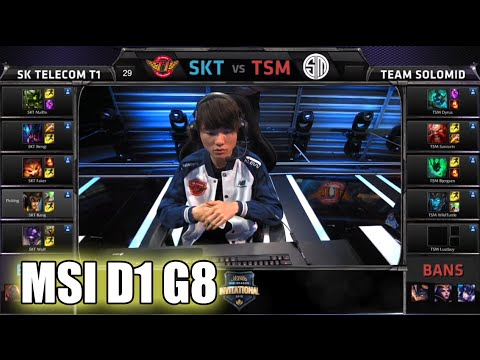 SK Telecom T1 vs TSM   MSI Group Stage Day 1 Mid Season Invitational 2015   SKT vs TSM MSI 60FPS