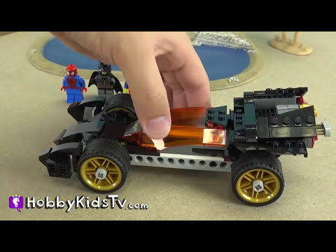 PLAY-DOH Island Escape! BUILD LEGO Bat Mobile + SpiderMan, Emmet, Flash [Box Open] HobbyKidsTV