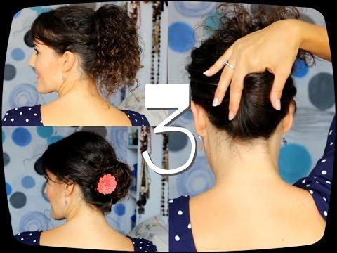 Peinados para diario pelo rizado