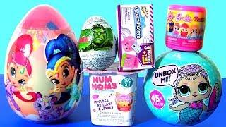 Huge Shimmer and Shine Egg Surprise LOL Dolls Shopkins Barbie Doll NUM NOMS by Funtoys