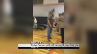 Father sentenced for punching school principal