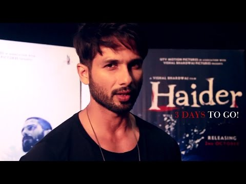 Three Days to Go | Haider | Shahid Kapoor & Shraddha Kapoor | Releasing on Oct. 2nd