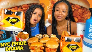 CHEETOS KFC SANDWICH MUKBANG + 2019 NYC PRIDE MEETUP - The good, bad & ugly!