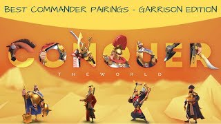 Best of the Best Commander Pairings - Garrison Edition - Rise of Kingdoms
