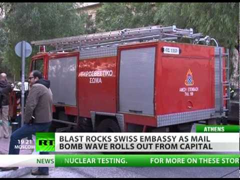 Mail bomb wave hits embassies in Greece with 2nd explosion & 2 threats