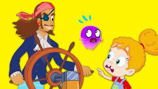 Groovy The Martian - Treasure hunt! What will the pirate treasure have inside? Cartoons for children