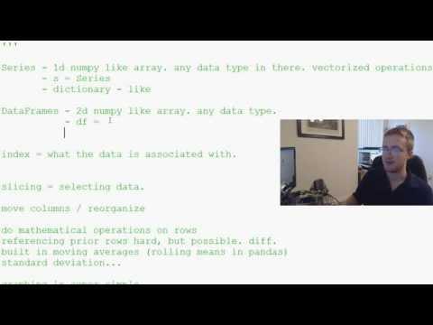 Pandas with Python 2.7 Part 2 - Terminology