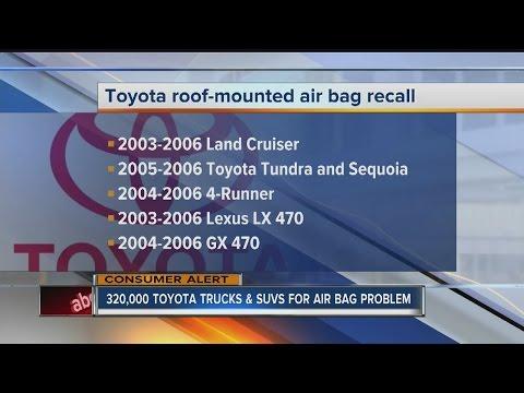 Toyota recalls 320,000 trucks and SUVs for air bag problem