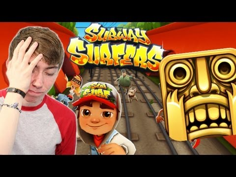Subway Surfers - TEMPLE RUN ON HARD MODE - Part 1 (iPhone Gameplay Video)