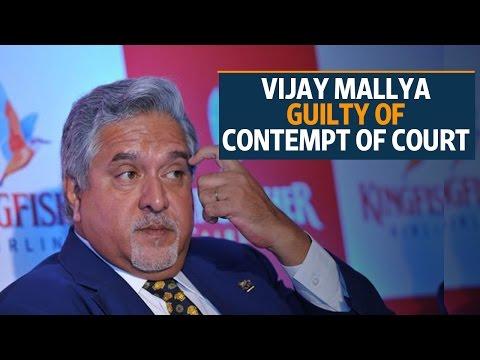 Vijay Mallya guilty of contempt of court: Supreme Court