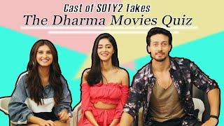 Cast of SOTY 2 takes the Dharma Movies Quiz | Ananya Panday | Tara Sutaria | Tiger Shroff | Filmfare