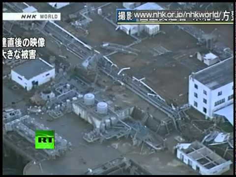 Aerial video shows immediate aftermath of 14m tsunami at Fukushima