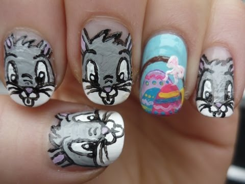 Easter Bugs Bunny Nail Art Tutorial