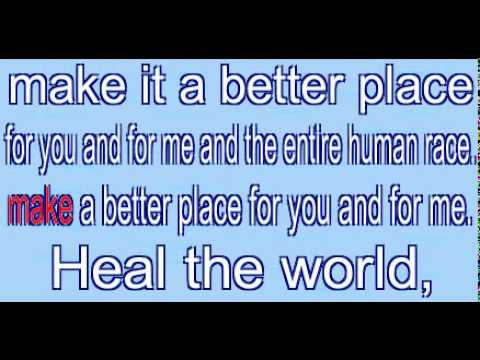 heal the world mp4 free download