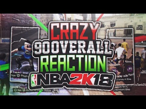 CRAZY 90 OVERALL REACTION,  YOU WONT BELIEVE IT | NBA 2K18 PARK | RIDING A BIKE IN THE PLAYGROUND