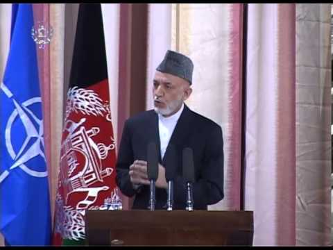 President Karzai's speech at security handover ceremony-- June 18, 2013