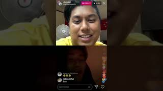 181024 Dee Kosh Instagram Live with GOT7 Bambam (bambam1a)
