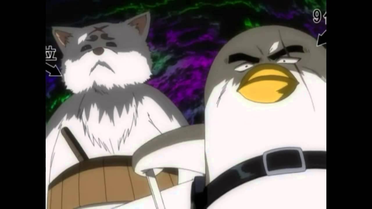 gintama sadaharu and elizabeth punch tsukuyo and