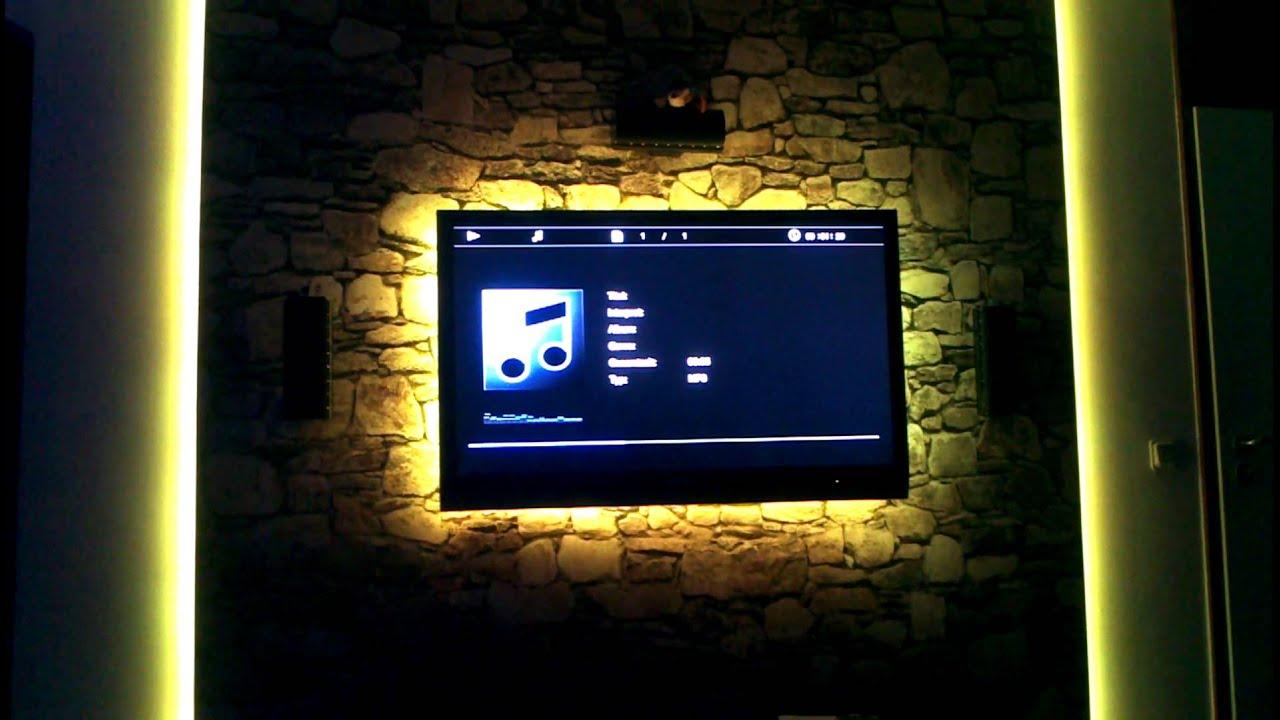 Fernseher Wand Stein