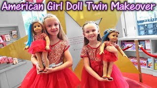 Turning Ourselves Into Dolls! American Girl Doll Twin Makeover!!!