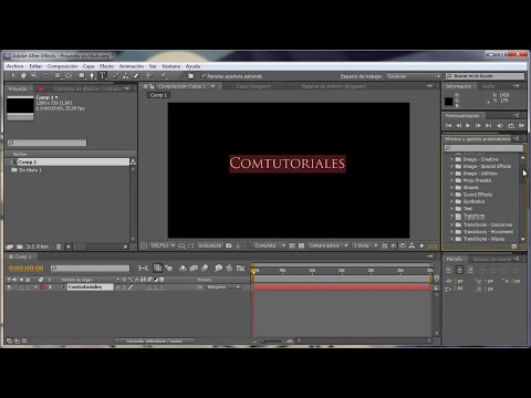 After Effects 002 Ajustes y formatos de Composicin