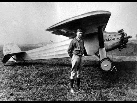 Charles Lindbergh Takes Off (1927) | Royalty Free Stock Footage