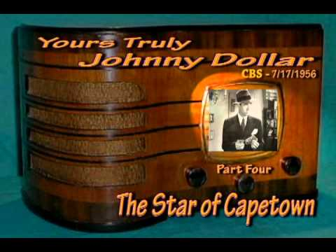 "Yours Truly,Johnny Dollar ""The Star of Capetown Matter "" Part 4/7 Oldtime Radio Crime Drama"