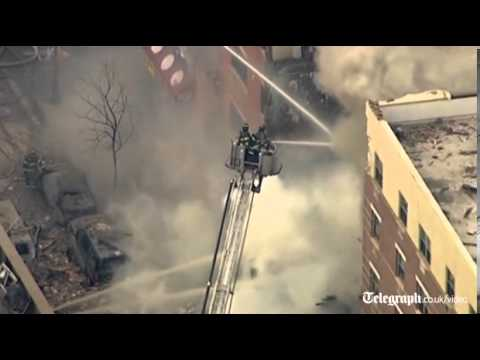 New York building collapse: large explosion at block in Harlem