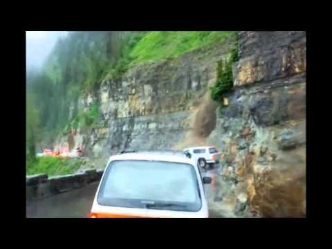 Glacier National Park July 17th 2012 Mud Slide