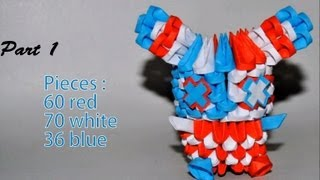 Part 1 Of Origami 3d Tutorial : Striped American Bunny (samy Moussaoui & Simon Valignat)